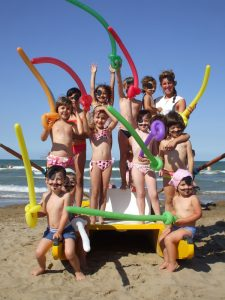 festa in spiaggia bambini